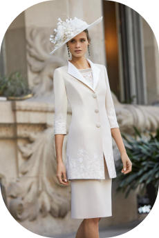 Coat and dress for wedding mother 4G293